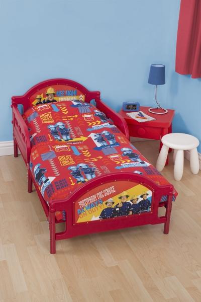 Fireman Sam 'Alarm' 4pc Set Bundle Rotary Junior Cot Bed Duvet Quilt Cover
