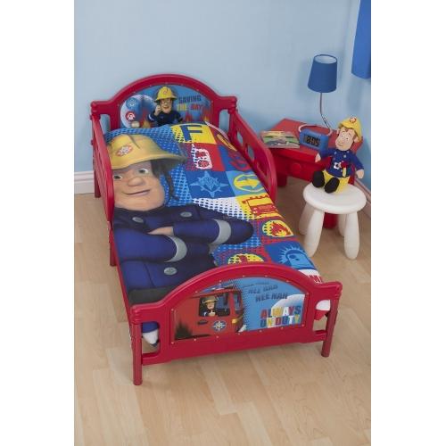 Fireman Sam Duty Panel Junior Cot Bed Duvet Quilt Cover Set
