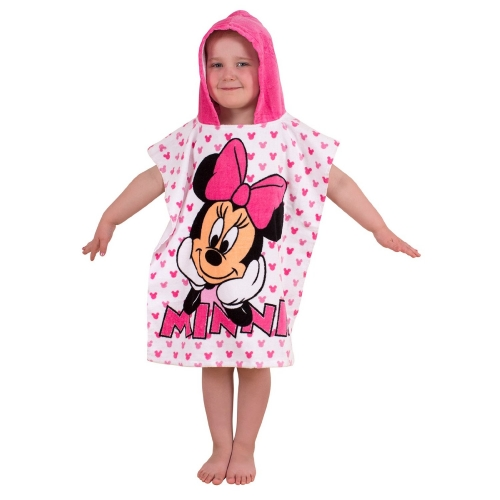 Disney Minnie Mouse Pink Polka Poncho Towel