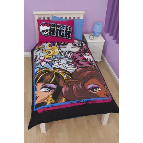 Monster High Beasties Panel Single Bed Duvet Quilt Cover Set