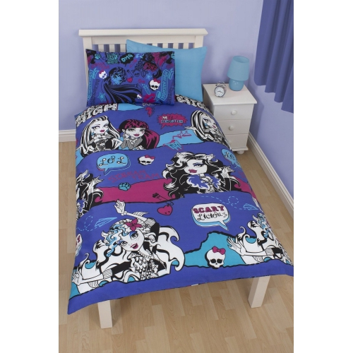 Monster High Beasties Rotary Single Bed Duvet Quilt Cover Set