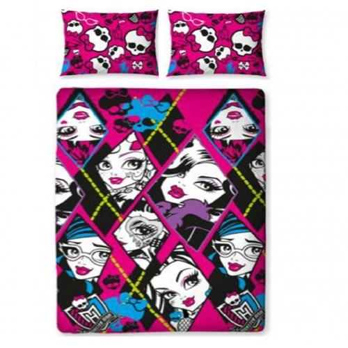 Monster High 'Skulette' Rotary Double Bed Duvet Quilt Cover Set