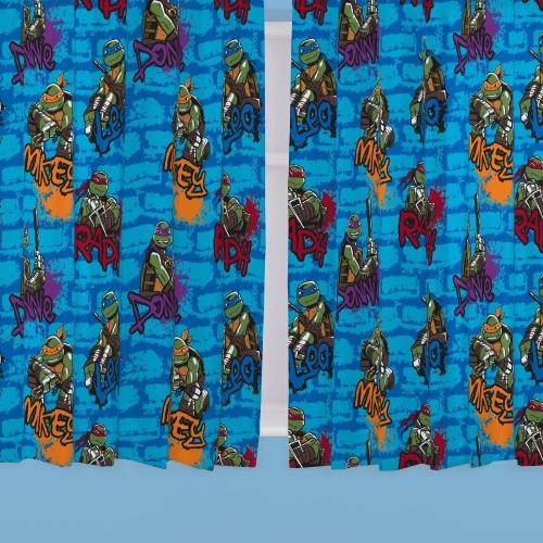 Teenage Mutant Ninja Turtles 66 X 72 inch Drop Curtain Pair
