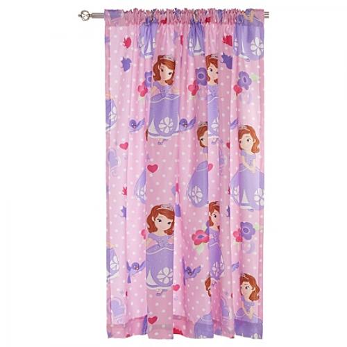 Disney Sofia The First Academy 66 X 54 inch Drop Curtain Pair
