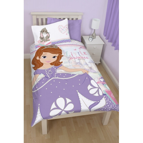 Disney Sofia The First Academy Panel Single Bed Duvet Quilt Cover Set