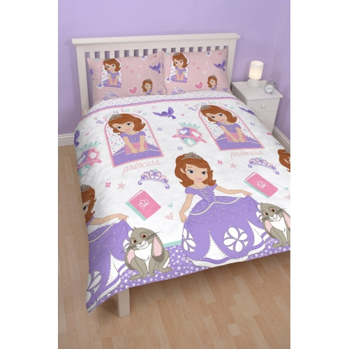 Disney Sofia The First Academy Rotary Double Bed Duvet Quilt Cover Set