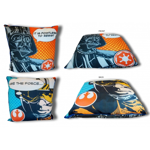 Star Wars Force Darth Vader Reversible Canvas Square Printed Cushion