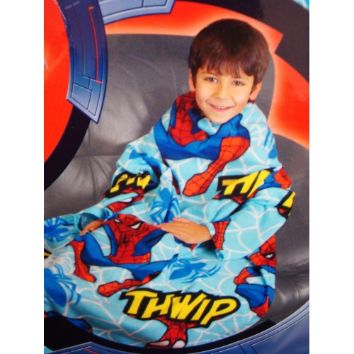 Spiderman Thwipp Cosy Wrap Blanket Sleeved Fleece