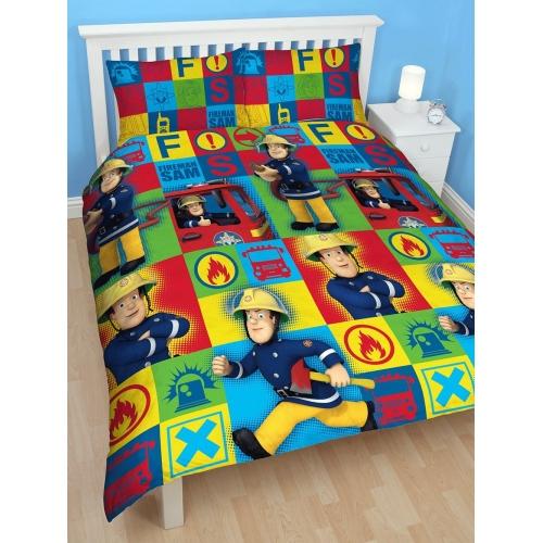 Fireman Sam 'Duty' Rotary Double Bed Duvet Quilt Cover Set