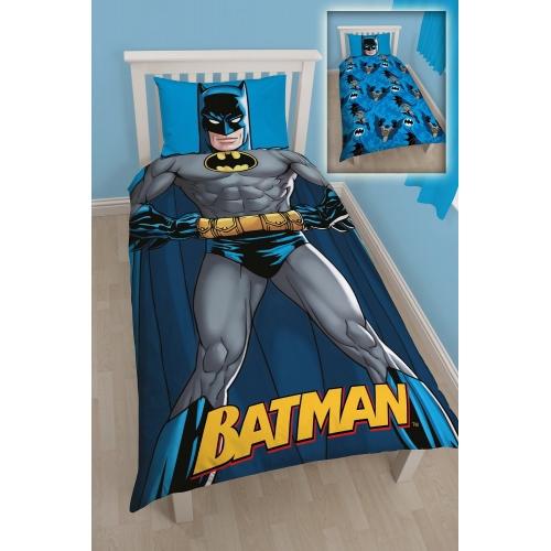 Batman Dc 'Shadow' Panel Single Bed Duvet Quilt Cover Set