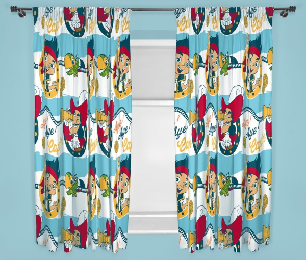 Disney Jake & The Sharks 66 X 72 inch Drop Curtain Pair