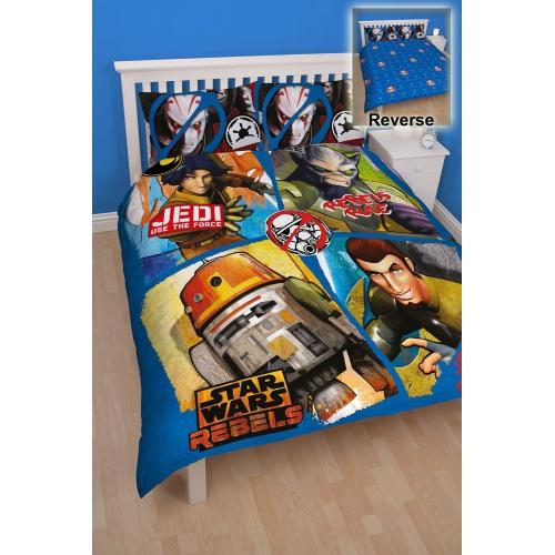Star Wars Rebels 'Tag' Panel Double Bed Duvet Quilt Cover Set