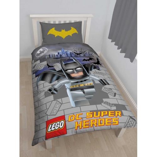 Lego Dc Super Heroes Batman Panel Single Bed Duvet Quilt Cover Set