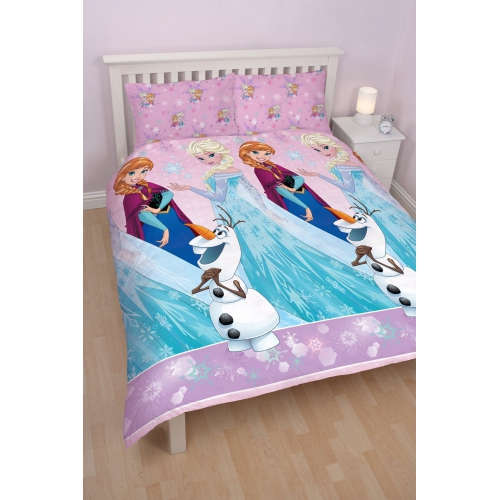 Disney Frozen Anna & Elsa 'Magic' Rotary Double Bed Duvet Quilt Cover Set