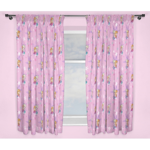 Disney Frozen Anna & Elsa 'Magic' 66 X 54 inch Drop Curtain Pair