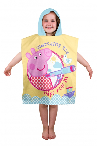 Peppa Pig 'Nautical' Poncho Towel
