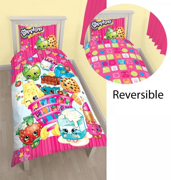 Shopkins Panel Single Bed Duvet Quilt Cover Set