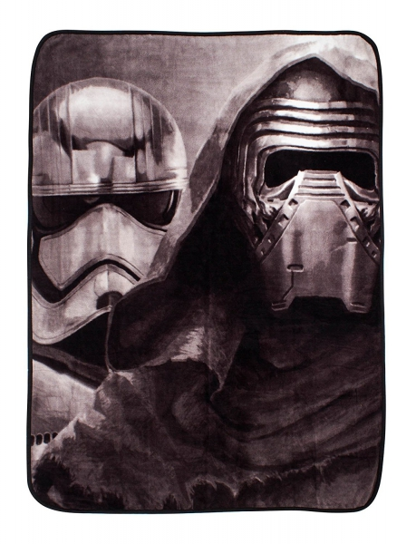 Disney Star Wars Episode 7 'Awaken' Coral Panel Fleece Blanket Throw