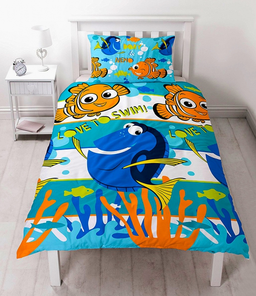 Disney Finding Nemo 'Dory' Rotary Single Bed Duvet Quilt Cover Set