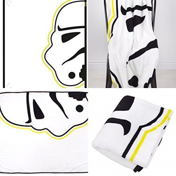 Disney Star Wars Classic 'Storm' Coral Panel Fleece Blanket Throw