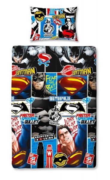 Batman vs Superman 'Clash' Rotary Single Bed Duvet Quilt Cover Set