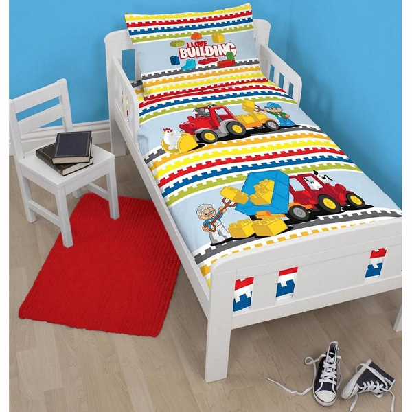 Lego Duplo 'Blocks' Panel Junior Cot Bed Duvet Quilt Cover Set
