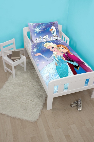 Disney Frozen 'Lights' Toddler Panel Junior Cot Bed Duvet Quilt Cover Set