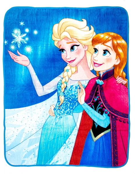 Disney Frozen 'Lights' Coral Panel Fleece Blanket Throw