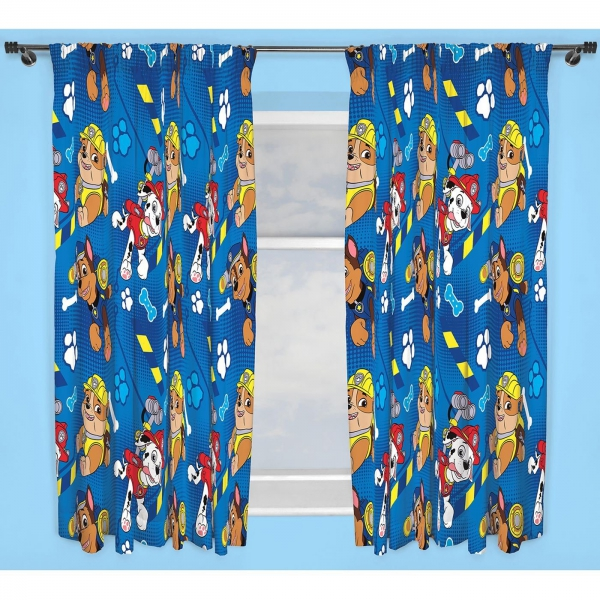 Paw Patrol 'Rescue' Pencil Pleat 66 X 72 inch Drop Curtain Pair