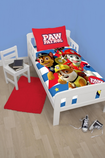 Paw Patrol 'Pawsome' Panel Junior Cot Bed Duvet Quilt Cover Set