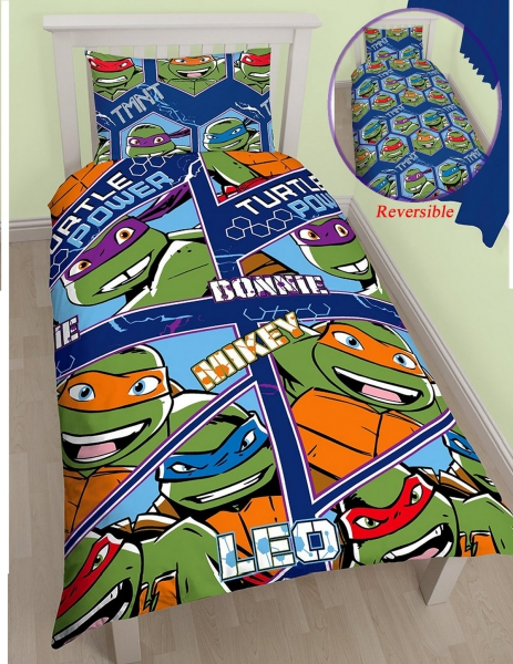 Teenage Mutant Ninja Turtles 'Dimension' Rotary Single Bed Duvet Quilt Cover Set