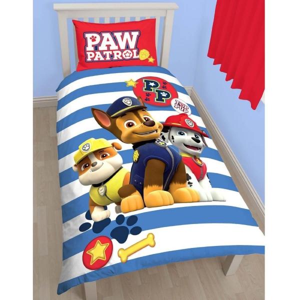 Paw Patrol 'Pawsome' Panel Single Bed Duvet Quilt Cover Set