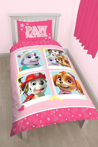 Paw Patrol 'Stars' Reversible Panel Single Bed Duvet Quilt Cover Set