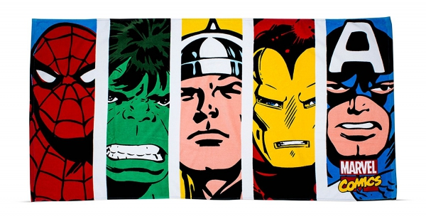 Marvel Comics Printed Beach Towel