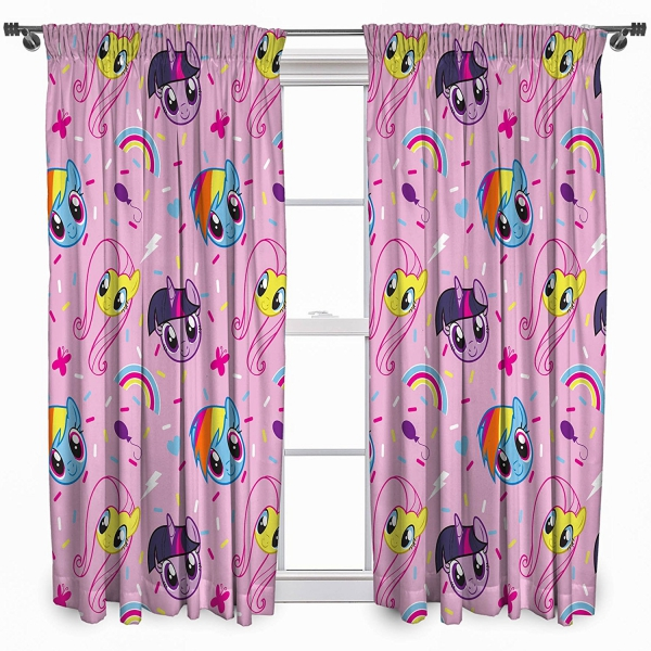 My Little Pony 'Equestria' Pencil Pleat 66 X 54 inch Drop Curtain Pair