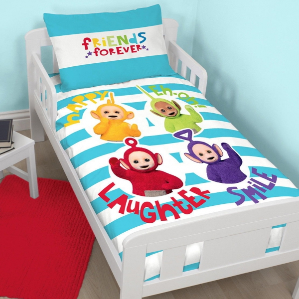 Teletubbies 'Playtime' Toddler Panel Junior Cot Bed Duvet Quilt Cover Set