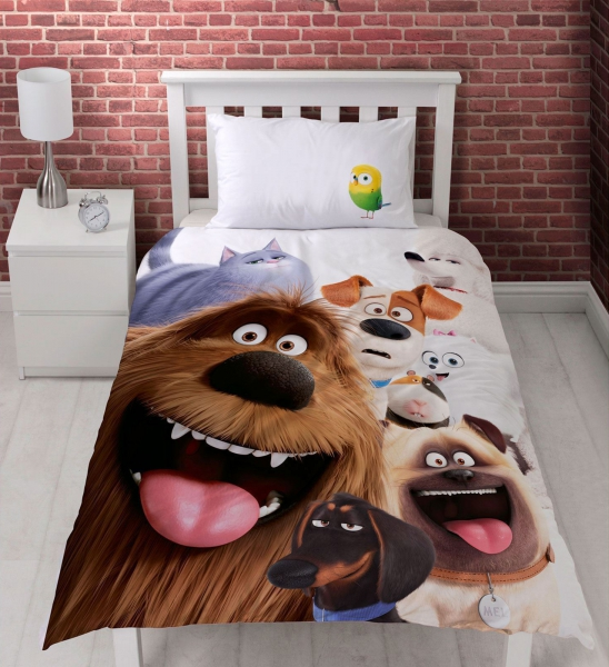 The Secret Life of Pets 'Animals' Reversible Panel Single Bed Duvet Quilt Cover Set