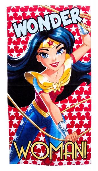 Dc Super Hero Girls 'Wonder Woman' Velour Printed Beach Towel