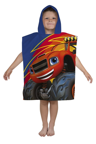 Blaze and The Monster Machines 'Zoom' Poncho Towel