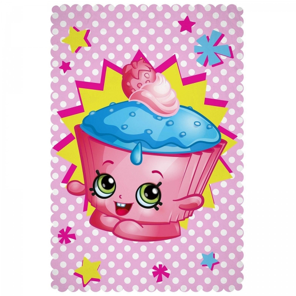 Shopkins 'Jumble' Panel Fleece Blanket Throw