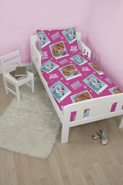 Paw Patrol 'Stars' Rotary Junior Cot Bed Duvet Quilt Cover Set
