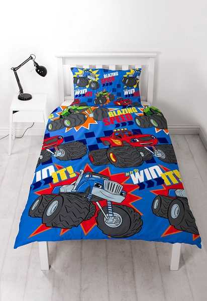 Blaze and The Monster Machines 'Zoom' Rotary Single Bed Duvet Quilt Cover Set