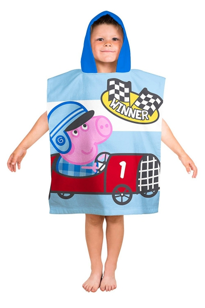 Peppa Pig George 'Speed' Poncho Towel