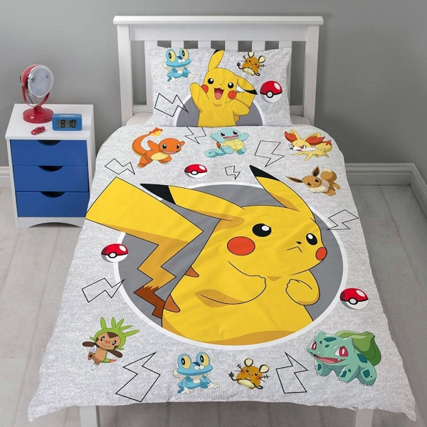 Pokemon Go Panel Single Bed Duvet Quilt Cover Set
