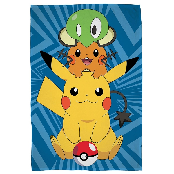 Pokemon 'Catch' Panel Fleece Blanket Throw