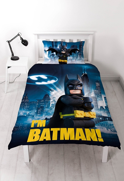 Lego Batman Movie 'Hero' Reversible Panel Single Bed Duvet Quilt Cover Set
