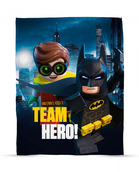 Lego Batman Movie 'Hero' Panel Fleece Blanket Throw