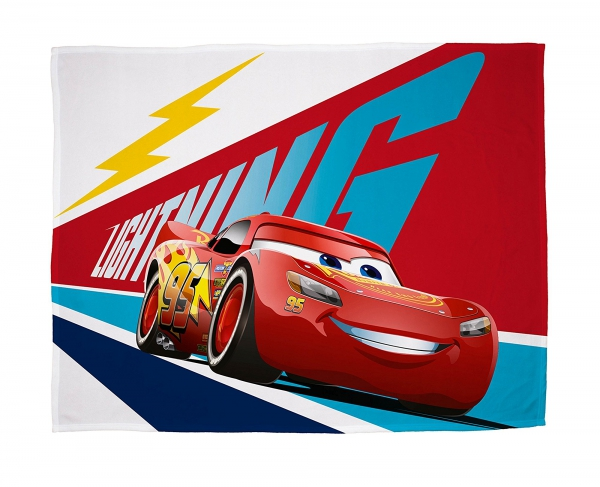 Disney Cars 3 'Lightning' Panel Fleece Blanket Throw