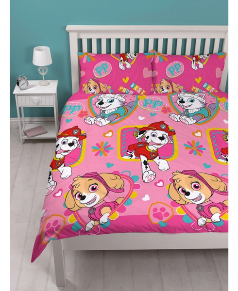 Paw Patrol 'Forever' Reversible Rotary Double Bed Duvet Quilt Cover Set