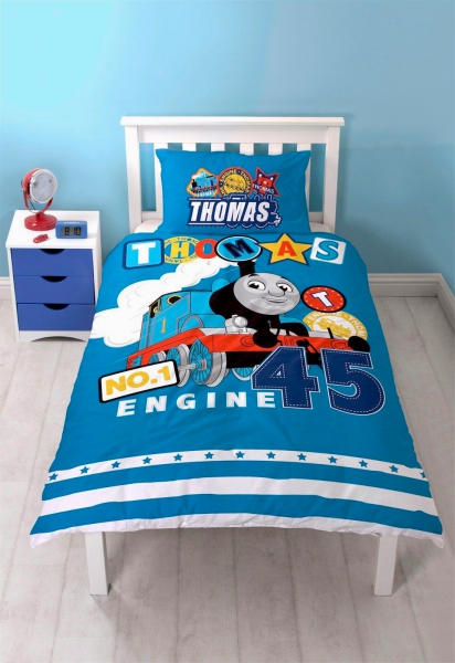 Thomas The Tank Engine 'Patch' Panel Single Bed Duvet Quilt Cover Set